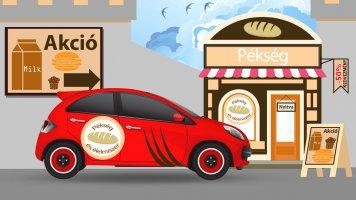 Üzlet és autó dekoráció