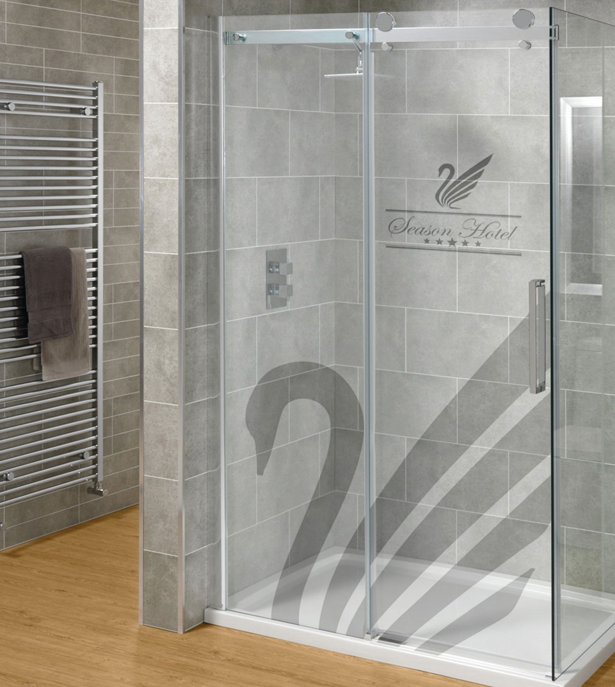 Zuhany ajtó dekoráció