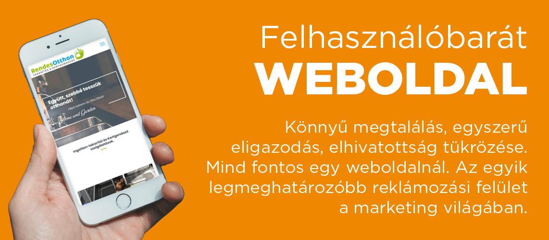 Felhasználóbarát weboldal